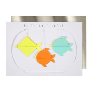Birthday Fishes Honeycomb Card