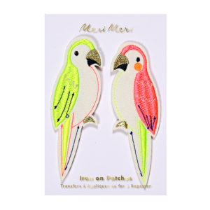 Meri Meri - PARROTS EMBROIDERED PATCHES