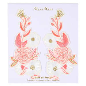 Meri Meri - POLISH FLORAL IRON ON PATCHES