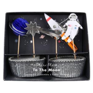 Meri Meri - To The Moon Cupcake Kit