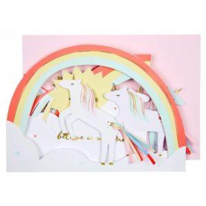 Meri Meri - Unicorn Concertina Card