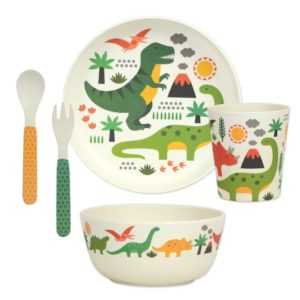 petit collage - Bamboo Dinnerware Set (dino)