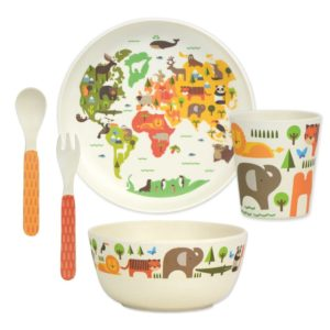 petit collage - Bamboo Dinnerware Set (welt)