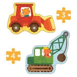 Petit Collage - Anfänger Puzzle Baufahrzeuge