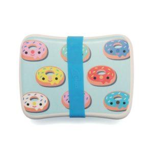 petitmonkey - Bamboo Lunchbox Donuts blau