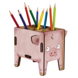 Werkhaus - Vierbeiner Stiftebox (Schwein)