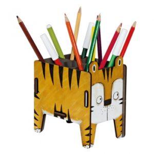 Werkhaus - Vierbeiner Stiftebox (Tiger)