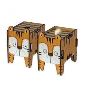 Werkhaus - Vierbeiner Twinbox Spardose (Tiger)