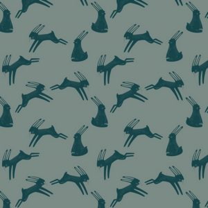 Art Gallery Fabrics - Capsules Campsite - Hopping Hare Spruce (J)
