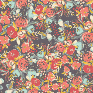 Art Gallery Fabrics - Wild Bloom - Flowerfield Sunset (R)