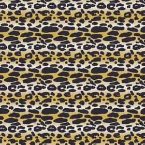 Art Gallery Fabrics - Indigo&Aster- Animalia Exotica Sand (J)