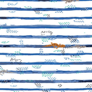 Art Gallery Fabrics - Mediterraneo - Gecko Trails (J)
