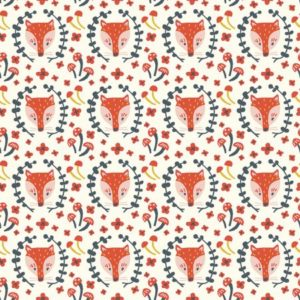 Birch Fabrics - Folkland - Foxy in Cream