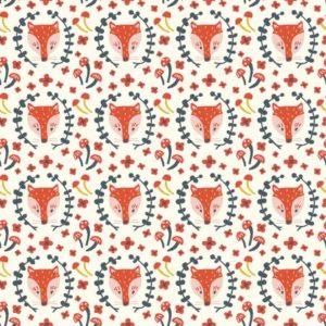 Birch Fabrics - Folkland - Foxy in Cream (J)