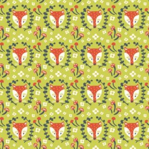 Birch Fabrics - Folkland - Foxy in Grass (J)