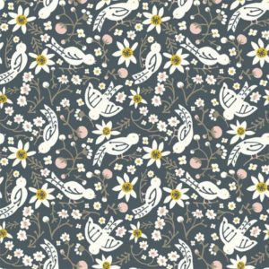 Birch Fabrics - Folkland - Sweet Tweet in Dusk (J)