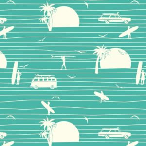 Birch Fabrics - Summer 62 - Summer Main in Turquoise Poplin