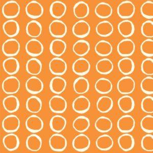 Birch Fabrics - Summer 62 - Bubbles in Orange Poplin