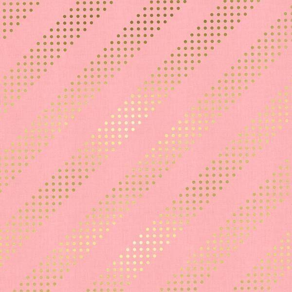 Cotton&Steel - Basics - Dottie Cotton Candy Metallic
