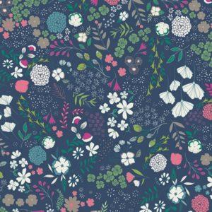 Art Gallery Fabrics - Flower Child - Blooming Ground Luscious