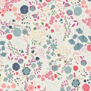 Art Gallery Fabrics - Flower Child - Blooming Ground Lustrous