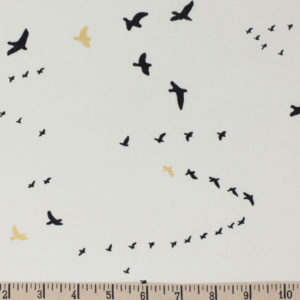 Birch Fabrics - Inkwell - Flight in Black Metallic