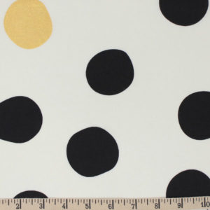 Birch Fabrics - Inkwell - Shift Dot in Black / Metallic