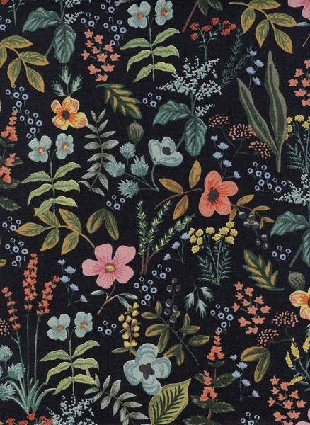 Cotton&Steel - Amalfi - Herb Garden Navy (C)
