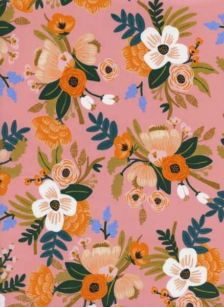 Cotton&Steel - Amalfi - Lively Floral Coral (R)
