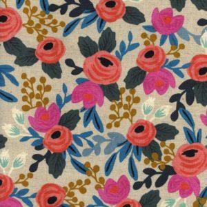 Cotton&Steel - Les Fleurs - Canvas Rosa Floral Natural (C)
