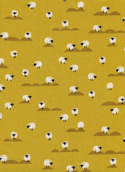 Cotton&Steel - Panorma Sunrise - Sheep mustard