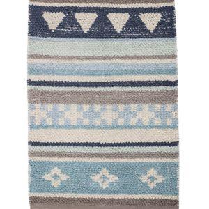 Bloomingville Teppich Blau
