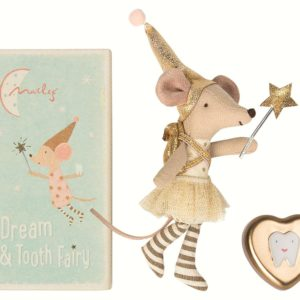 Maileg - Tooth fairy big sister with metal heart box