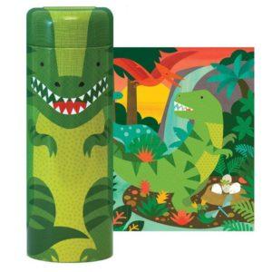 petit collage - Puzzle Spardose (Dinosaurier)