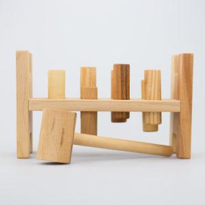 woo - Wooden Story Klopfspiel natur