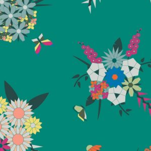 Art Gallery Fabrics - Loved to Pieces - Pieced Bunches Wild