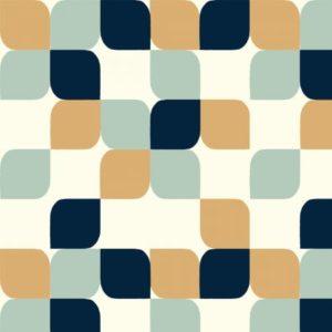 Birch Fabrics - Mod Nouveau - Geo Tear Drop