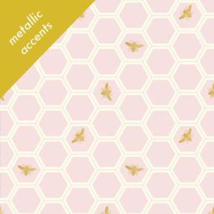 Birch Fabrics - Mod Nouveau - Honeycomb in Blush