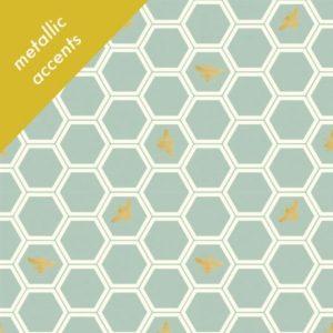Birch Fabrics - Mod Nouveau - Honeycomb in Mint
