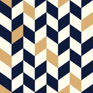 Birch Fabrics - Mod Nouveau - Offset in Navy