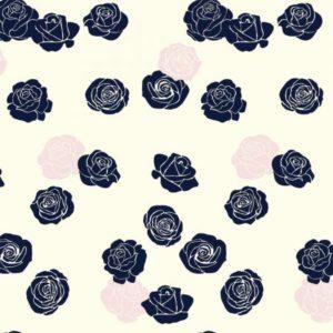 Birch Fabrics - Mod Nouveau - Roses in Blush