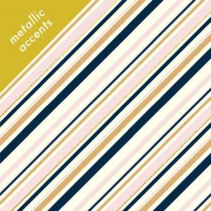 Birch Fabrics - Mod Nouveau - Stripe in Blush