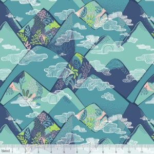 Blend Fabrics - Bwindi - Cloud Forest Blue