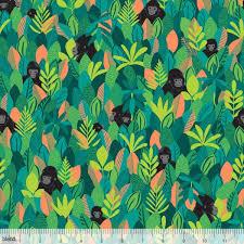 Blend Fabrics - Bwindi - Mountain Gorilla Green