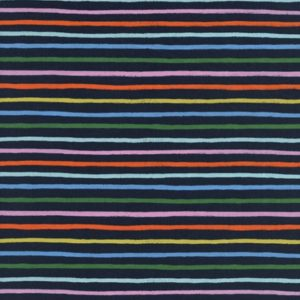 Cotton&Steel - Amalfi - Happy Stripes Navy COTTON LAWN