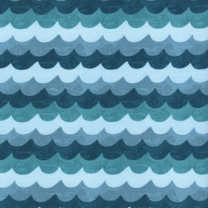 Cotton&Steel - Amalfi - Waves Turquoise