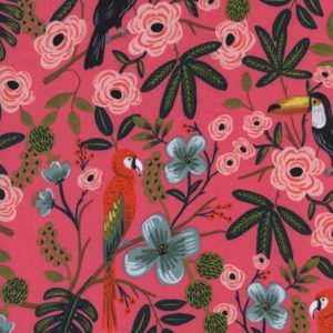 Cotton&Steel - Menagerie - Paradise Garden Coral cotton lawn