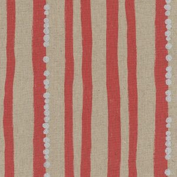 KOKKA - Echino - Stripe Red