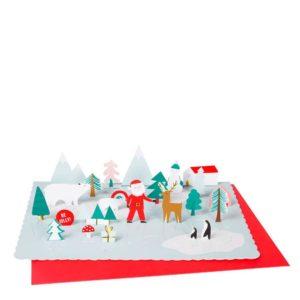 Pop-Up Santa Scene Advent Calendar