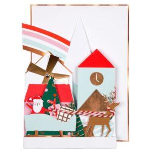 Festive Village Concertina Card